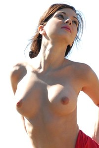 Karina Sunbathing