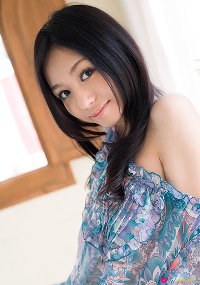 Aino Kishi in Barely Clad from All Gravure