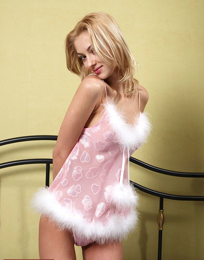 Anna S in Pink Teddy from Hegre Art