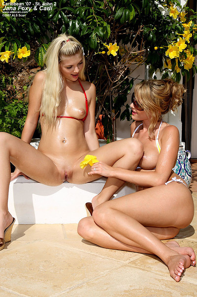 Carli Banks and Jana Foxy in St John from ALS Scan