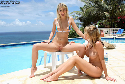 Jana Foxy and Carli Banks in Caribbean 2007 from ALS Scan