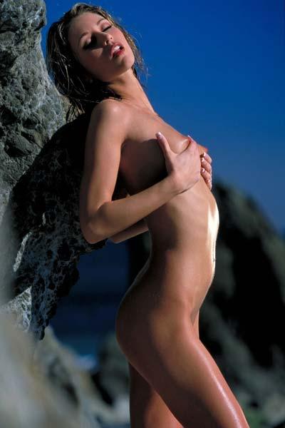 Monique Alexander Undresses At The Beach