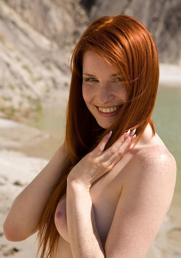 Cute Nude Brunettes With Freckles