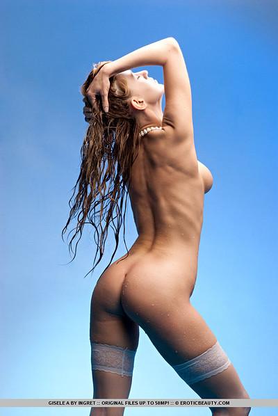 Gisele A in Aqua Blue from Erotic Beauty