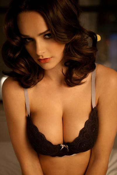 Playboy Kristen Pyles Tasty in Black