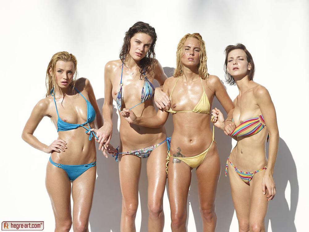 Coxy Nude in Flora Thea Zaika Bikini Battle - Free Hegre