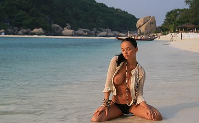 Jenya D in Tropics from Met Art