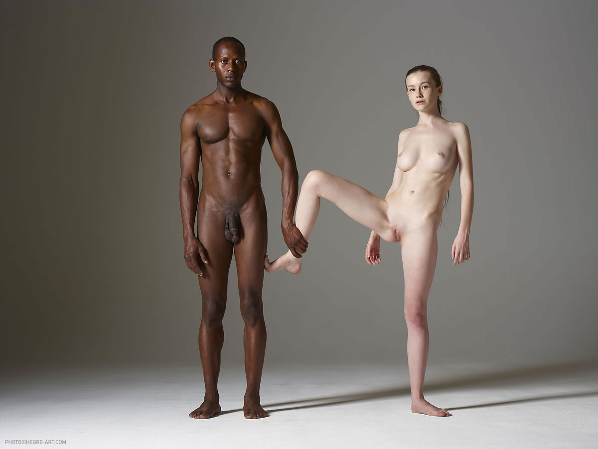 Nude male and female models posing photograph by panoramic images