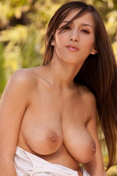 April ONeil Takes Off Her White Top