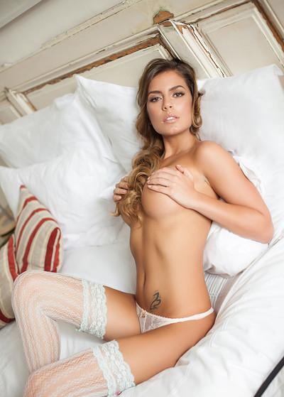 Szandra in Beautiful In White from Playboy