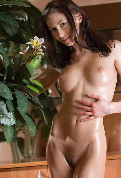 Kateryna in Oiled young girl Kateryna from Domai