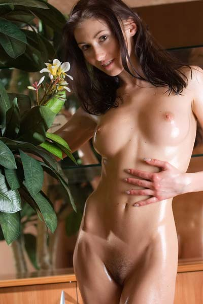 Oiled young girl Kateryna