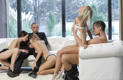 Susie and Angelica in Group Sex from X Art