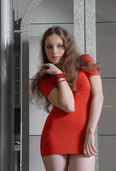 Zhenya in Red On White from Zemani