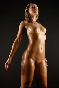 Do you like her sexy oiled body