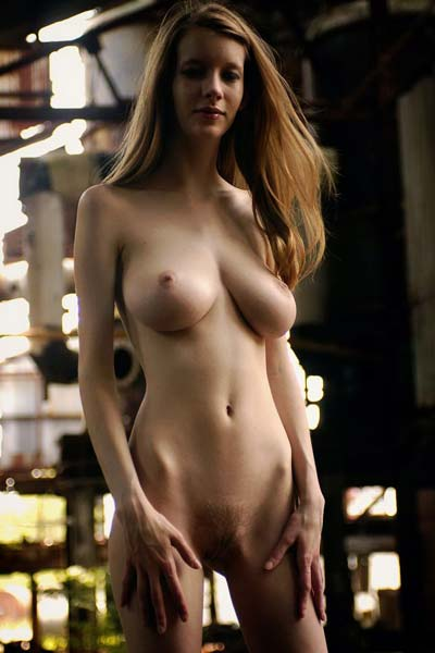 Busty Valentina in abandoned building