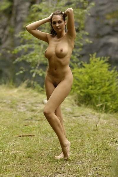 Gabriell in Outdoor posing by busty Gabriell from Domai