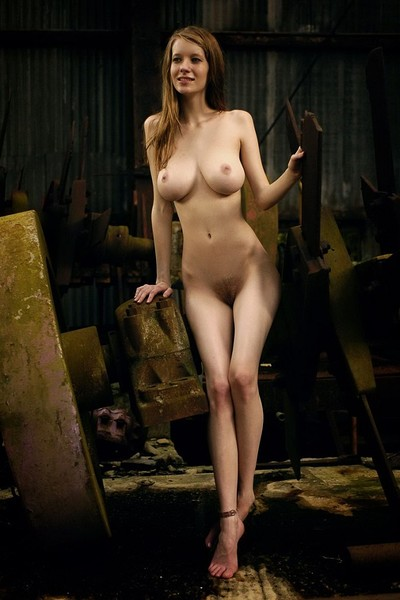 Valentina in Busty hottie in old factory from Domai