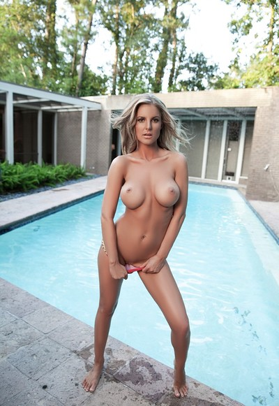 Kimber Cox in Poolside Passion from Playboy