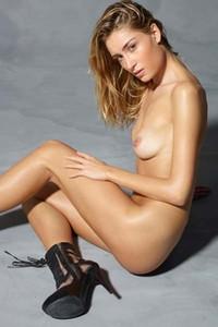 Rosie showcases an amazing slender body