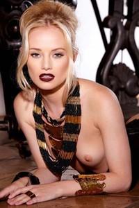 Slim Sexy Blonde Babe Strips Kinky Lingerie