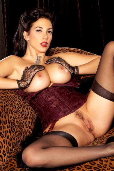 Big Boobed Stunner Jelena Jensen Strips on the Couch