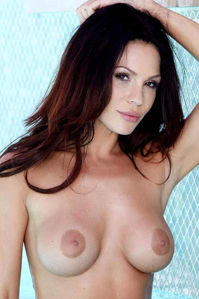 Kirsten Price playing with herself by the pool