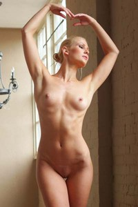 Sexy blonde ballerina