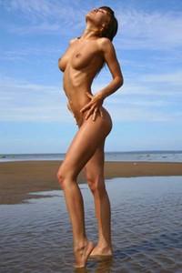 Adorable nude brunette Athena