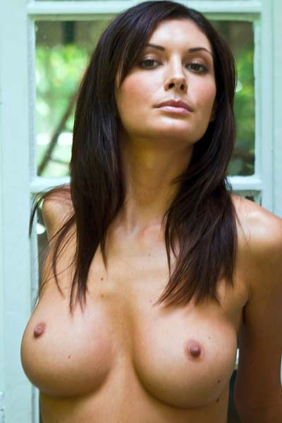 Busty gorgeous brunette Klaudia