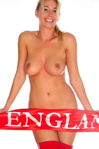 Busty Hayley loves striping and soccer