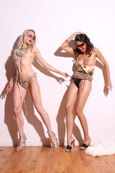 Karmen and Katy are playful today