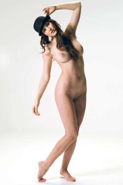 Petula strips and poses sensually