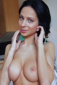 Charming curvy babe Lydia A exposes her amazing body