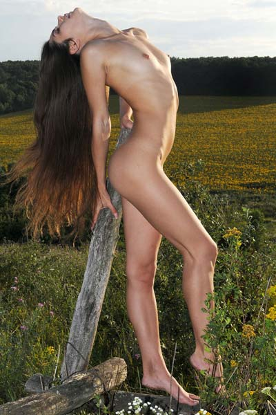 Natural and exotic Konstansija A poses nude outdoors