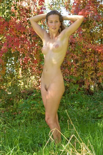 Sarka looks lovely in the autumn