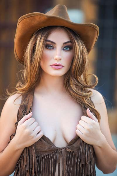 Playboy Delicious Lauren Love is the sexiest cowgirl in town