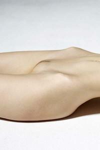 Nude teasing by skinny brunette Aya Beshen