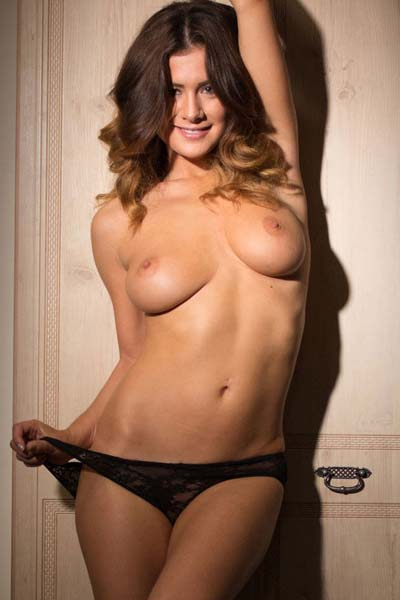 Sexy Kelly Hall in black lingerie