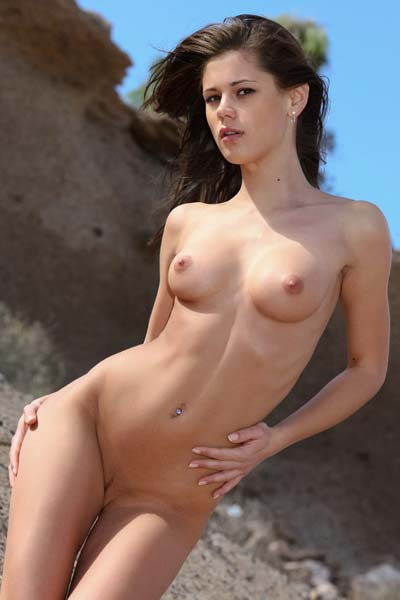 Hot Caprice A slips out of her tight bikini on a sunny day