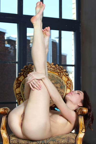 Hot princess Freja gets nude in front of the camera