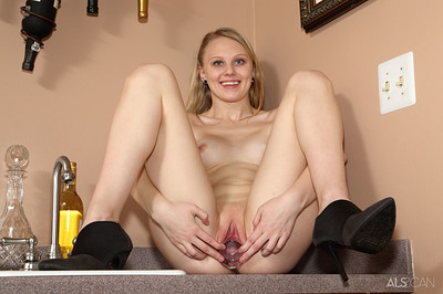 Lily Rader in Wet Bar from ALS Scan
