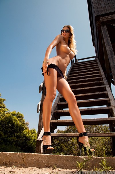 Claudia in Lookout Tower from Photodromm