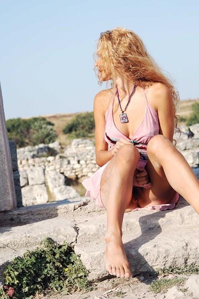 Kati in Column. Extra from Zemani