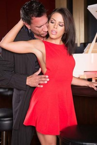 Classy babe Adriana Chechik stripped and poundes hard