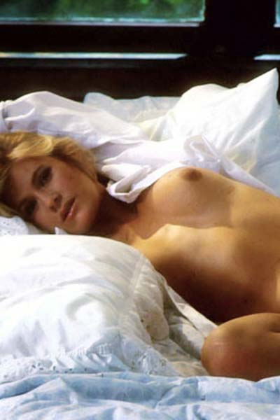 Alluring blonde Francis McAmish exposes her lovely assets for you