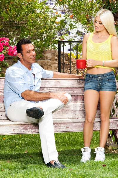 Alluring blonde Jessie Volt pounded hard outdoors