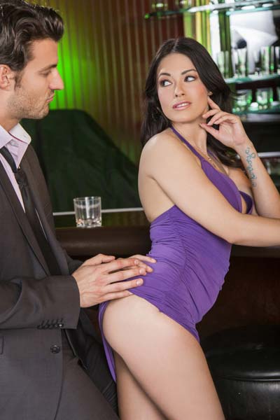 Wonderful Ava Dalush undressed and banged at a bar