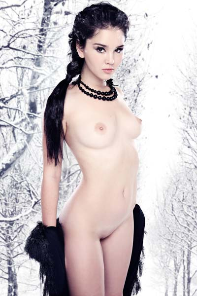Ice queen Malena shows her gracious and seducing body by posing as a professional that she is