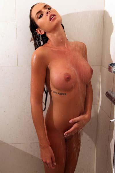 Alexa is a sexy babe who likes to pose naked while taking a bath for a photo shoot